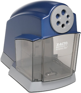 Pencil Sharpener Electric Automatic Office School Classroom Helical Steel Blue