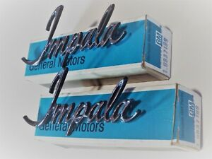 New Old Stock 1971 1972 1973 Impala C Pillar Roof Panel Script 9837199 One Pair