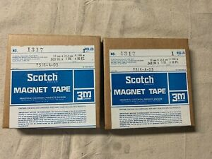 Lot Of 2 Scotch Flexible Magnet Tape W Adhesive 060 X 1 X 10 Ft Sealed
