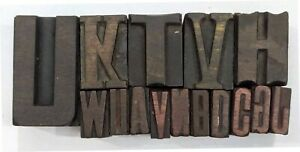Letterpress Letter Wood Type Printers Block lot Of 15 Typography eb 225