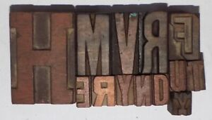 Letterpress Letter Wood Type Printers Block Lot Of 13 Typography eb 66