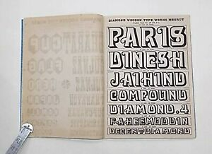 Vintage Specimen Book Of India Type Foundry Hindi English etc Hard Bound B 5