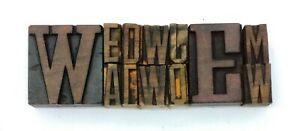Letterpress Letter Wood Type Printers Block Lot Of 12 Typography eb 92