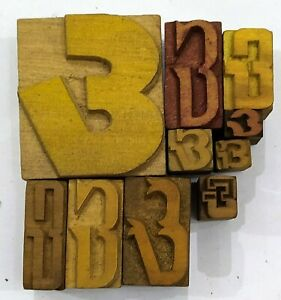 Letterpress Letter Wood Type Printers Block lot Of 10 Ampersand Symbol