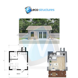 U s Made Steel Backyard Office Granny Flat Tiny Home Kit 225 Sq Ft Easy To Diy