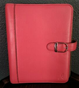 Day Timer Organizer Leather Pink Ribbon Breast Cancer Awareness Planner Inserts