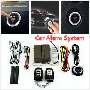 Car Suv Smart Alarm System Keyless Entry Remote Engine Start Push Button 12v