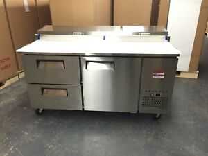 Pizza Prep Table Drawers 67 Unit 6 Refrigerator Prep Cooler 2 Draw 2 Door 72