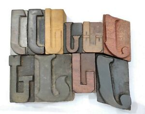 Letterpress Letter Wood Type Printers Block Lot Of J 10 Typography eb 60