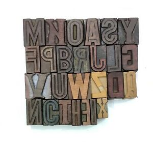 Letterpress Letter Wood Type Printers Block a To Z Typography eb 111