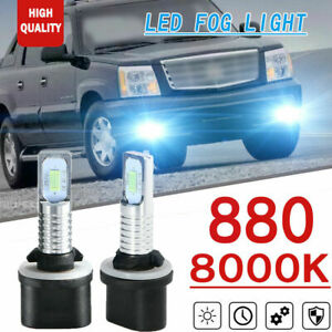 2x 880 35w 8000k Led Fog Light Bulbs Ice Blue For Cadillac Escalade Ext 02 06