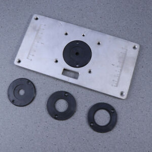 Practical Convenient Router Table Insert Plate Kit For Woodworking Bench