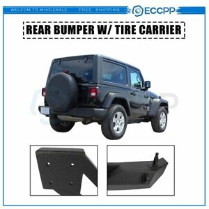For Jeep Wrangler 07 18 Jk Rock Crawler Rear Bumper Tire Carrier W D ring