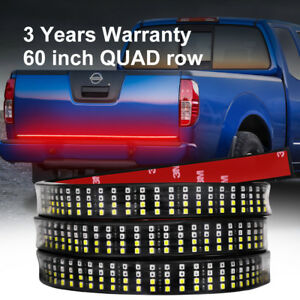 60 inch Tailgate Led Light Bar Brake Reverse Turn Signal Stop Strip Pickup 4 row