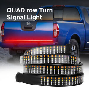 60 Inch Truck Tailgate Led Light Bar Brake Reverse Turn Signal Stop Strip 4 row