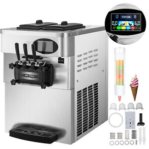 Commercial Soft Ice Cream Making Machine 3 flavor Countertop Soft Yogurt Maker