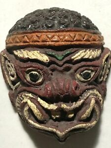 Phra Phirap Lp Boon Rare Old Thai Buddha Amulet Pendant Magic Ancient Idol 7