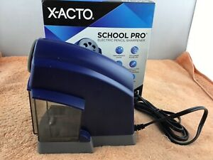 X acto 1670 School Pro Heavy duty Electric Pencil Sharpener Used