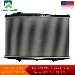 Radiator For 1998 2004 Nissan Frontier Xterra 4cyl 2 4l V6 3 3l Fast Shipping