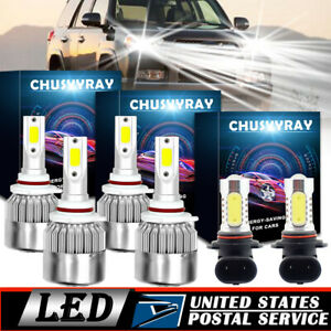 For Toyota 4runner 2003 2005 9005 9006 Headlight 9145 9140 Fog Light Led Bulbs