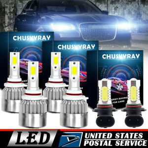 For 2005 2009 Chrysler 300 Combo Led Bulbs 9005 9006 9145 Headlight Fog Light
