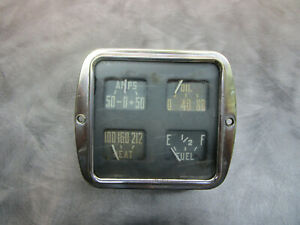 1951 1952 1953 Dodge Truck Fargo Dash Cluster Gauge Fuel Temp Oil And Amps
