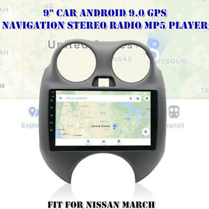 For Nissan March 9 Car Android 9 1 Gps Navigation Wifi Stereo Radio Mp5 Player