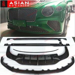 Carbon Body Kit For Bentley Continental Gt 2018 Front Lip Diffuser Rear Spoiler