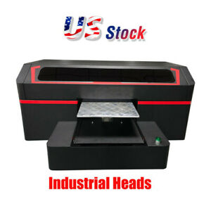 Usa High Quality Single Station Direct To Garment Printer 8 Industrial Heads