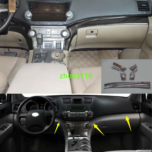 Carbon Fiber Look Console Center Dashboard Trim For Toyota Highlander 2008 2013