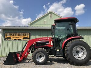 2015 Mahindra 3540p Pst 4x4 Tractor Loader Enclosed Cab 40 Hp Only 5 Hours