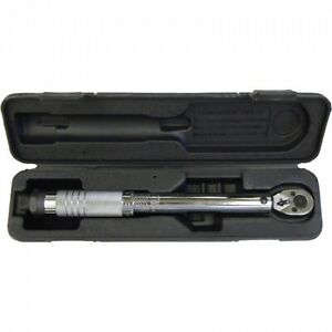 1 4 Dr Drive Inch Lbs Pound Micrometer Torque Wrench New With Case