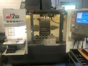 Used 2012 Haas Vf 2ss Cnc Vertical Machining Center Mill 4th Probe Usb Ct40 30hp