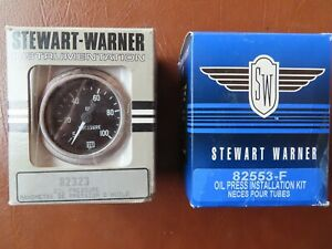 Stewart Warner 82323 Oil Pressure Gauge And 82553 F Installation Kit