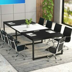 Tribesigns 8ft Rectangular Conference Table With Metal Base 94 48lx47 24wx29 92h