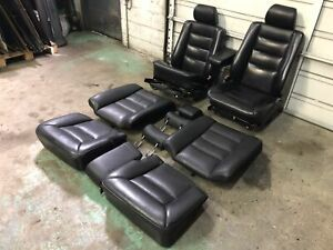 90 95 Mercedes 300ce E320 C124 W124 Coupe Black Leather Seats Set Interior 54k
