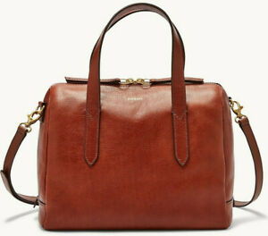 Fossil Sydney Satchel Crossbody Medium Brown Leather Bag SHB1978210 NWT $178 Ret $99.99