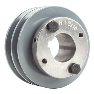 Cast Iron 3 5 2 Groove Dual Belt A Section 4l Pulley And 1 3 16 Sheave Bushing