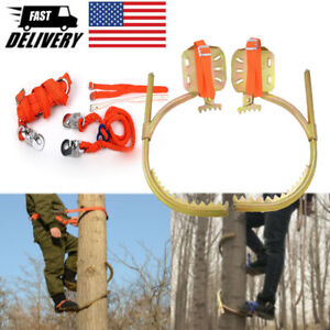 Tree Climbing Tool With Seat Belt Pedal Non slip For Overhead Work Foot Hook