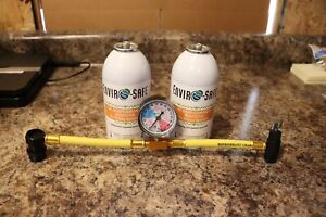 Enviro Safe R134a Ac Performance Booster 2 Cans And Gauge