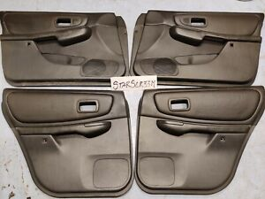 1998 2001 Subaru Impreza Sedan 2 5rs Leather Black Door Cards Panels Set Gc8