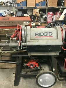 Ridgid Model 1224 1 2 Inch 4 Inch Power Threading Machine