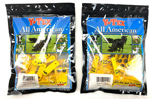 lot Of 2 y tex 2 piece Ear Tag System For Livestock Yellow Sheep Numbered 1 25