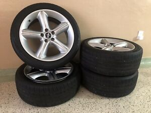 Set Of 4 Used 19x8 5 2010 2012 Ford Mustang Wheels 245 45 19 Nexen Tires