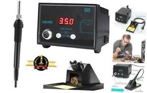 Digital Soldering Iron Station With Soldering Stand Tip Cleaning Wire Sponge An