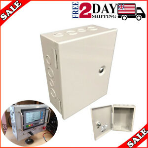 1 Sheet Metal Junction Box Electric Hinged Cover Enclosure Wire 8x10x4