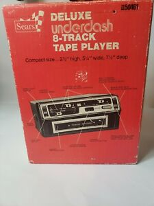 Sears Deluxe Under Dash Stereo 8 Track Tape Player Chevrolet Pontiac Buick Olds