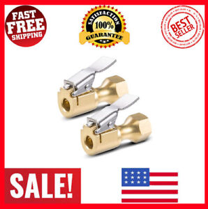 Air Chuck Heavy Duty Open Flow Lock On Tire Chuck With Clip For Inflator Gauge