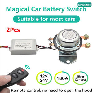 12v Car Battery Switch Wireless Disconnect Power Master Kill W remote Control
