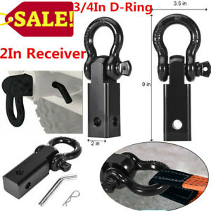 2in Receiver With 3 4in D ring Shackle For Trucks Jeep